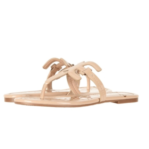 ae2dca016a3 Sam Edelman Carter Nude Patent Leather Sandals. M 5b3ba299fe51512285f10147